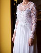 suknia ślubna długi rękaw