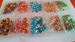 Посыпка декоративная для торта или паски 10 пакетиков, 5 видов
