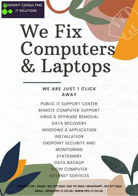 We Repair Computers & Laptops and Prcourement of Stationery