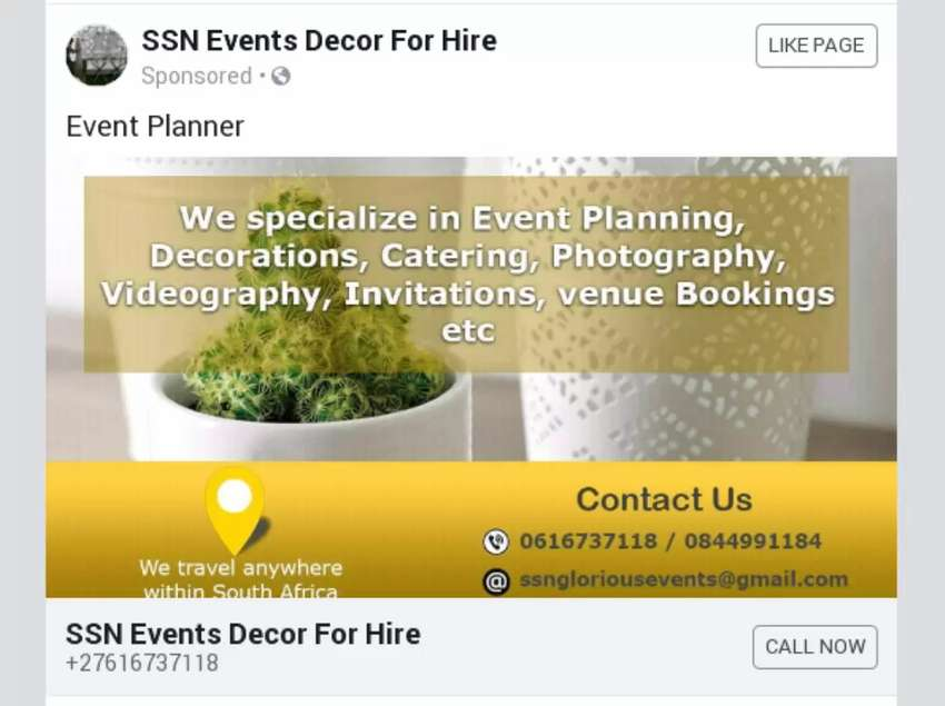Stretch tents & Decor for hire 0