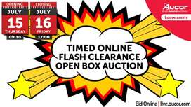 Timed Online Flash Clearance Open Box Auction
