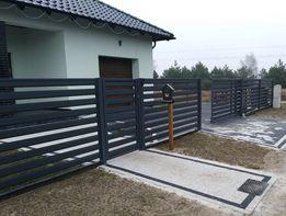 Ogrodzenie nowoczesne metalowe przęsło 391 zł brama wjazdowa płot