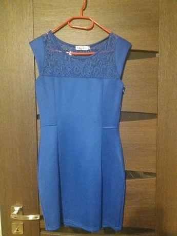 Niebieska (chabrowa) sukienka Koźmin Wielkopolski - image 1