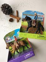 Продам коллекционную фигурку Шляйх Schleich лошадь с наездником, седло