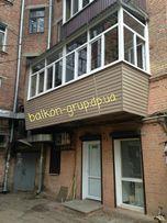Балкон под ключ. Остекление, обшивка, утепление.