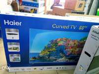 """New Haier 55"""" digital smart TV curved, 4K with 2 yrs warranty. 0"""
