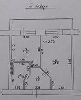 ЖК Вернисаж. ул. Костанди. 61 метр. Супер планировка! лоджия 11 метров