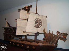 Duży STATEK Okręt Pirat Wiking Mega Blocks typu lego unikat Pl.Wilsona