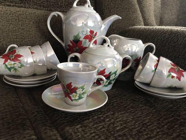 Очень красивый перламутровый чайный сервиз Днепр - изображение 2