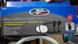 Dual Angle Towing Mirror with Ratchet - Moto-Quip (x2)