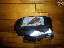 Велосумка / вело сумка нарамная / на раму для телефона ≤ 5,5