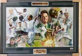 Fully autographed - The Proteas tour of Australia 2008/9