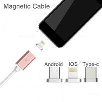 Магнитный кабель, провод 2,4А для MicroUSB, Type C, lightning айфон