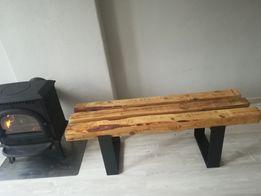Ławy i stoły z belek