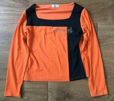 Блуза футболка оранжево-черная kalsenina разм. 40