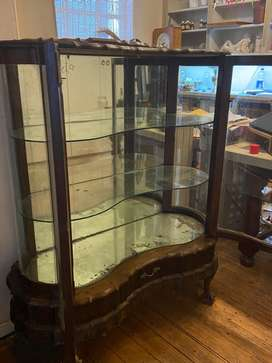 Vintage Ball & Claw Display Cabinet