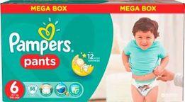 Подгузники-трусики pampers pants EXTRA LARGE 6 (15+ КГ) MEGA PACK, 88