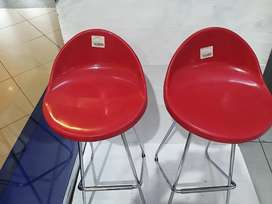 Red bar chairs