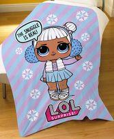 Детский флисовый плед куклы ЛОЛ LOL 100х150 для девочки