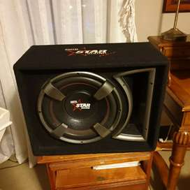 "Subwoofer Starsound 12"" Whip Bass reflex vented box system"