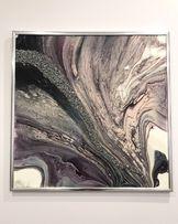 Интерьерная картина флюид арт fluid art абстракция глянец в наличии