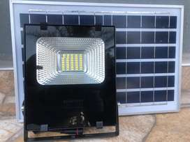 20W flood light with solar panel