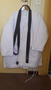 Karate Suit Bushido (Shogun Heavy Duty) and Brown Belt, used for sale  South Africa