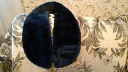 Воротник из искуственного меха, цвет темно- синий