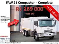 Image of FAW 21m3 Compactor Complete