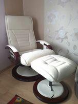 Fotel elektryczny do masażu w kolorze kremowym