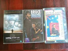 VHS movies and music tapes