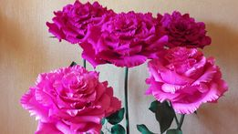 Цветы большие ростовые из гофрированой бумаги