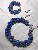 Ожерелье бусы колье из натурального камня, ручная работа!