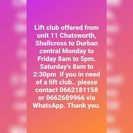 Lift club offered