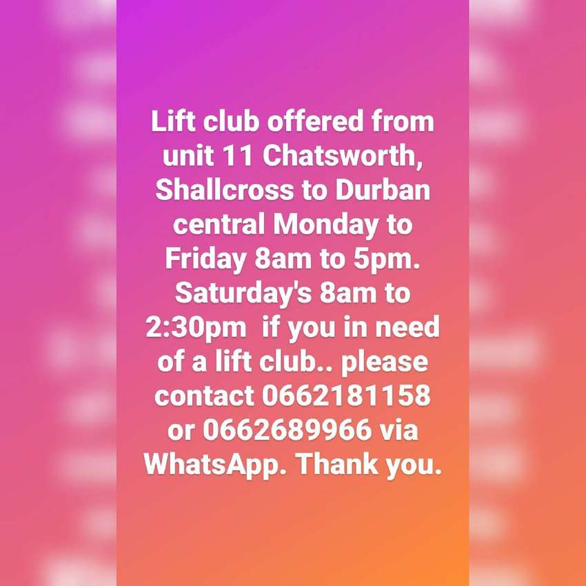 Lift club offered 0