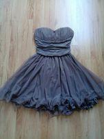 Piękna sukienka, czekoladowa, brązowa, rozmiar S, 36, nowa