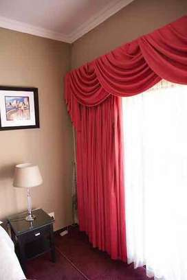 Curtains with swags and tails