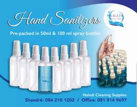 Hand sanitizer pre-packed