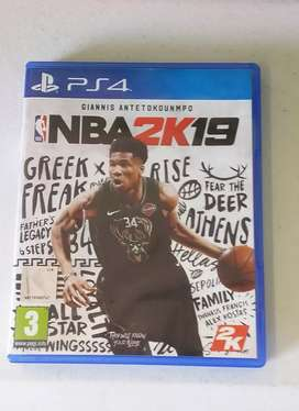 NBA 2k19 for PS4 like new.
