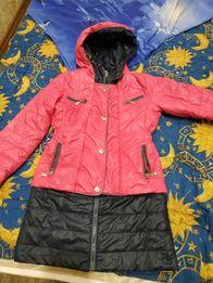 Курточка,пальто демисезонное 128