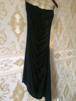 Платье силуэтное длинное чёрное