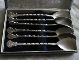 Ложки чайные серебро 875