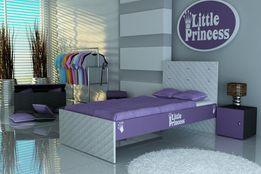Łóżko dziecięce,łóżko dla dziecka tapicerowane, 3 wymiary, Raty, SKÓRA