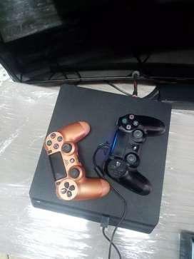 Play station 4 slim X2 controllers