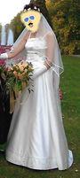 Piękna suknia ślubna ecru rozm. 38