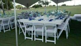WOODEN TABLES AND GLASS TABLES HIRE.TIFFANY CHAIRS AND WIMBLEDON HIRE