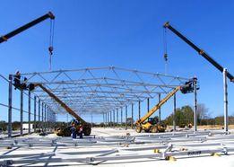 Строительство и монтаж ангаров, металлоконструкций под ключ.