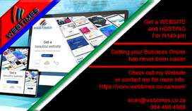 Get a Website and Hosting for just R149 p/m
