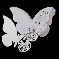 winietki winetki motylki motyle zawieszane na kieliszki wesele 10sztuk