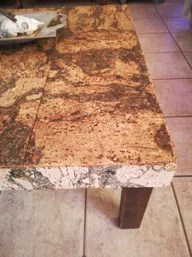 Table - coffee corked finished table